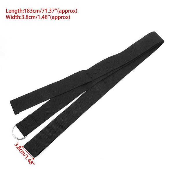 Adjustable Yoga Strap with D-Ring 6
