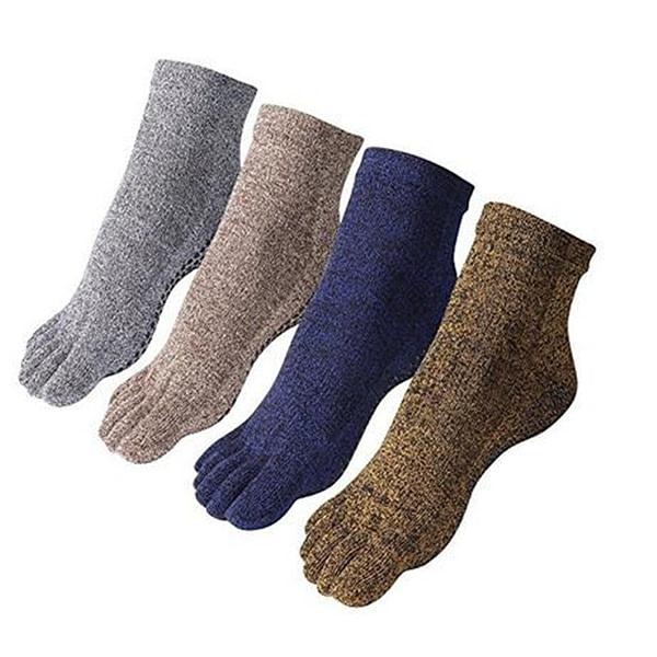 2 Pairs Men's Full Toe Non Slip Yoga Socks 2