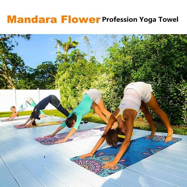 Yoga Portable Mandala Printed Mat Blanket 4