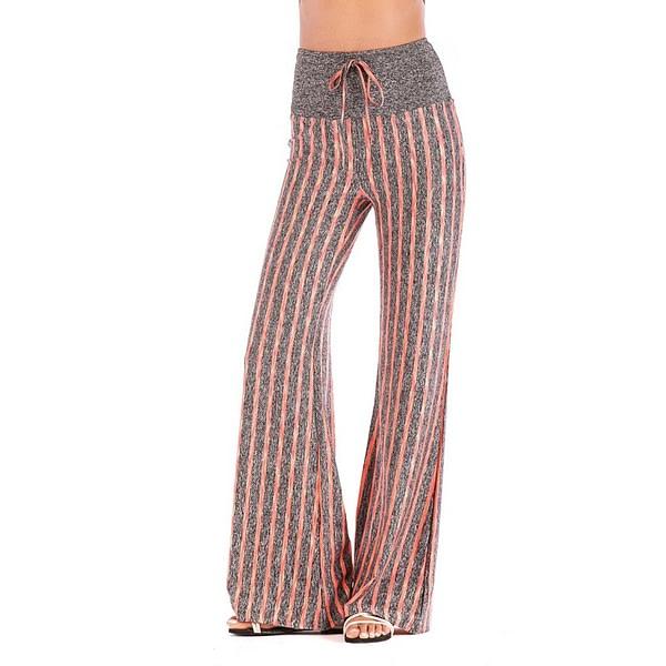 Women's Striped Wide Leg High Waist Yoga Pants 5