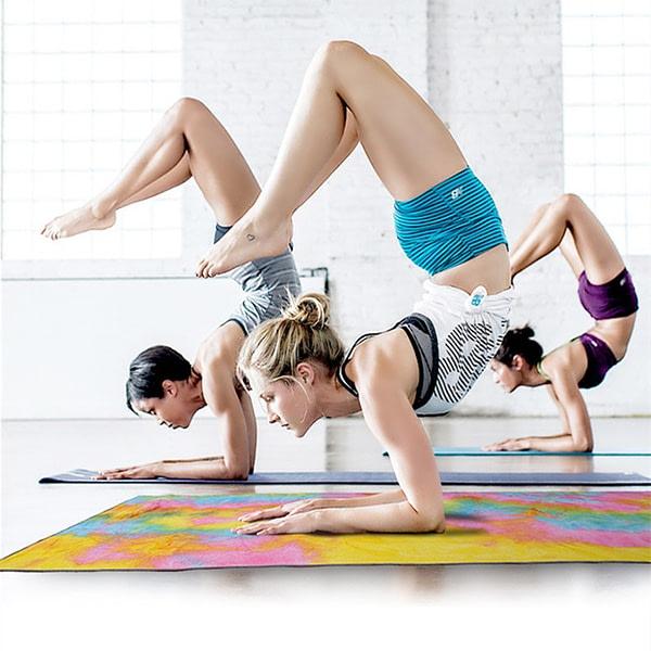 Rainbow Color Soft Yoga Mat Blanket Towel 6