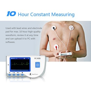 Portable ECG Medical Monitor with USB Cable