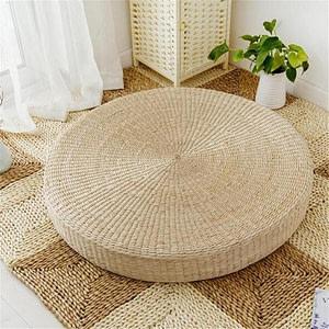 Natural Straw Round Pouf Tatami Meditation Cushion