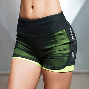 Women's Sports Yoga Mesh Shorts 3