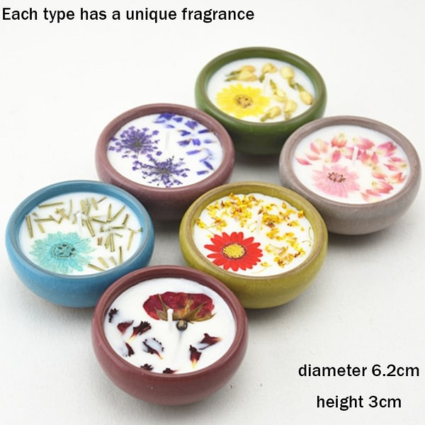 Dried Flowers Natural Scented Candles 2