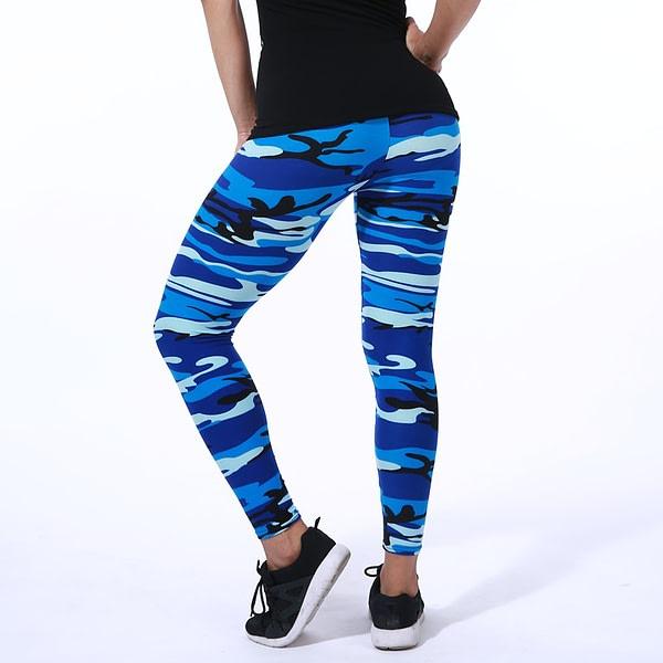 Summer Women's Elastic Camouflage Fitness Leggings 3