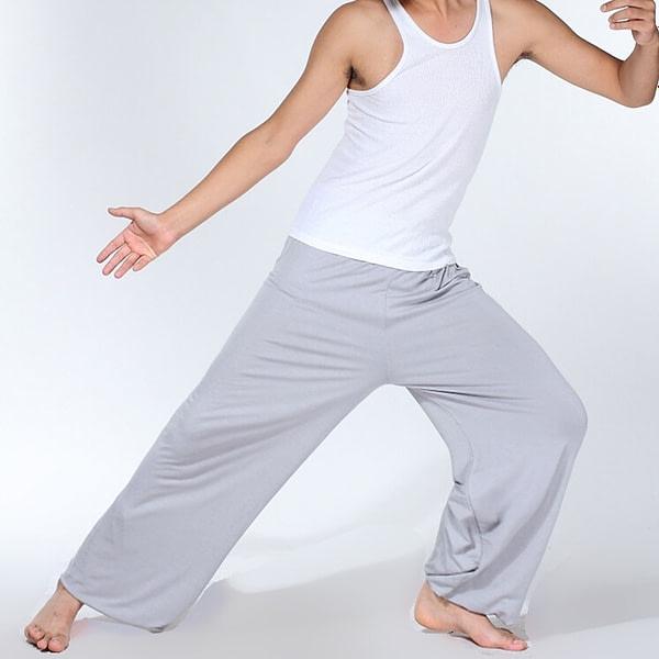 Men's Loose Style Solid Color Pants 4