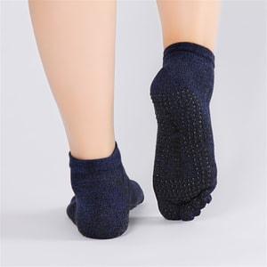 2 Pairs Men's Full Toe Non Slip Yoga Socks 6