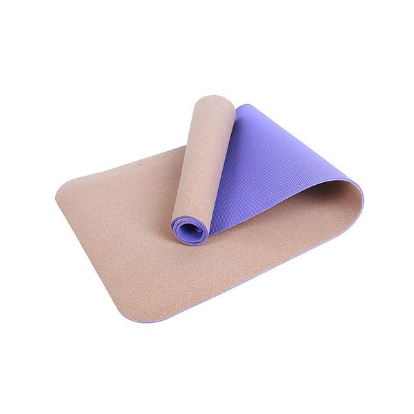 Two Layer Cork Yoga Mat 2