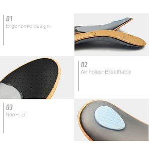 Unisex Premium Leather Orthotic Insole