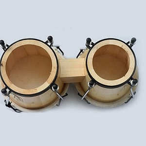 African Hand Drum Bongo With Adjustable Wrench